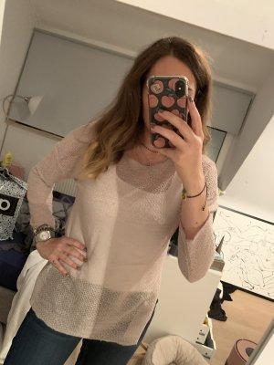 Beiges, durchsichtiges Longshirt