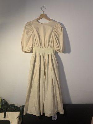 unbekannte Wełniana spódnica kremowy-w kolorze białej wełny