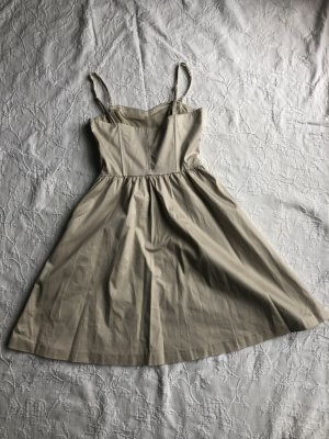 Beiges Kleid mit abnehmbaren Trägern von H&M, hellbeige, Gr. 34