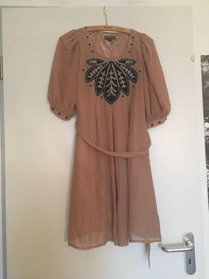 Fever london Sukienka beżowy-czarny