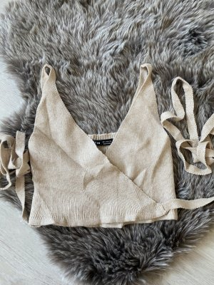 Cropped Top beige