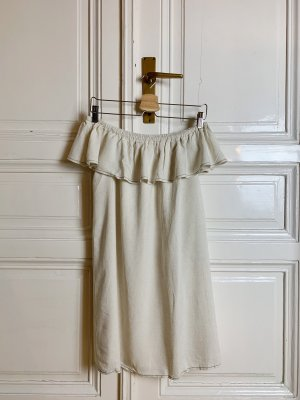 Beiges Off-Shoulder Kleid
