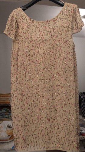 Beiges Pailletten Kleid