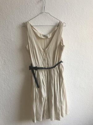 Beiges Sommerkleid von Rules by Mary in Größe M mit Gürtel