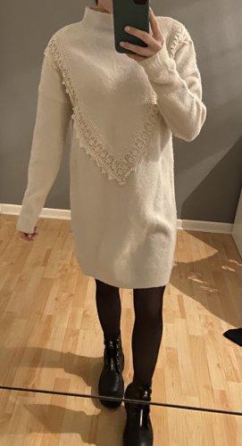 Beiges Strickkleid / Wollkleid