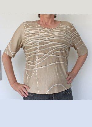 beiges T-Shirt von apriori, Größe 46