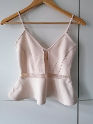 H&M Frill Top cream-oatmeal