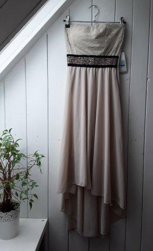 Robe bas asymétrique noir-beige clair