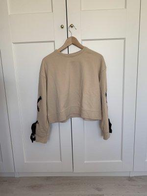 Beiges ZARA Sweatshirt mit oversize Schleifen