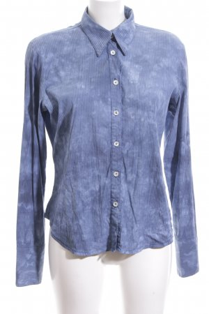 Bejeweled Shirt Blouse blue themed print casual look