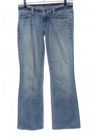 Bejeweled Low Rise jeans blauw casual uitstraling