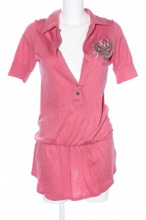 Bejeweled T-shirt rosa Stampa a tema stile casual