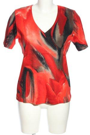 BEKA MODEN T-shirt czerwony-czarny Abstrakcyjny wzór W stylu casual