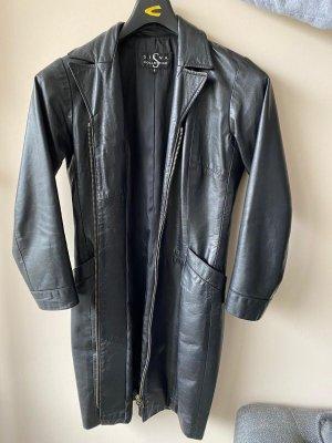 Siena Manteau en cuir noir