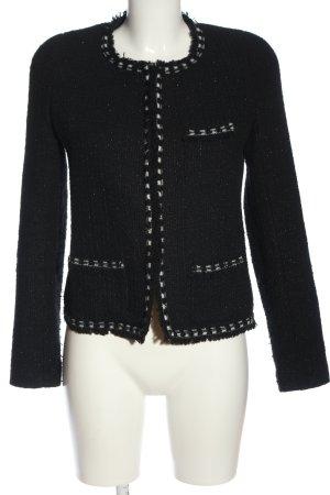 Bel Air Korte blazer zwart gestippeld casual uitstraling