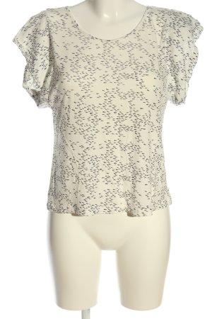 Bel Air Gebreid shirt wit-zwart grafisch patroon casual uitstraling