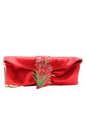 Belen Donate Clutch rood-groen geborduurde letters elegant