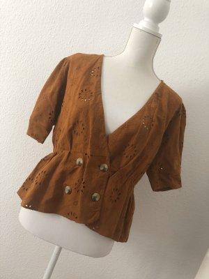 Beliebte Zara Bluse mit Lochstickerei Größe M