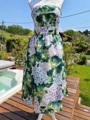 Dolce & Gabbana Summer Dress lilac-lime-green