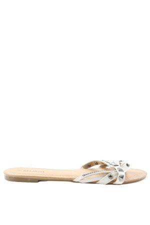 Belinda Sandalias Dianette blanco look casual
