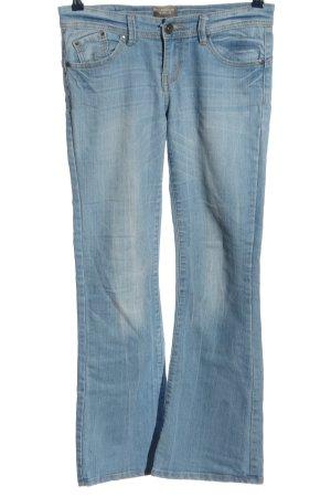 bell bottom Jeansy o kroju boot cut niebieski W stylu casual