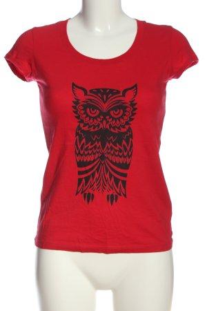 Bella+Canvas Print Shirt red-black themed print casual look