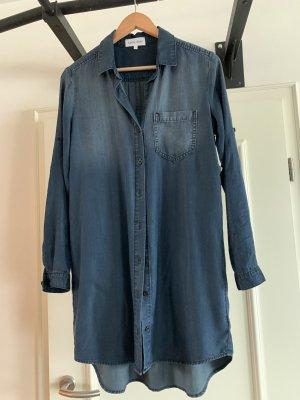 Bella Dahl Shirtwaist dress steel blue lyocell
