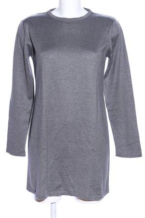 Bella Donna Crewneck Sweater light grey flecked casual look