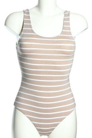 Bella Luxx Body crema-bianco stampa integrale stile casual