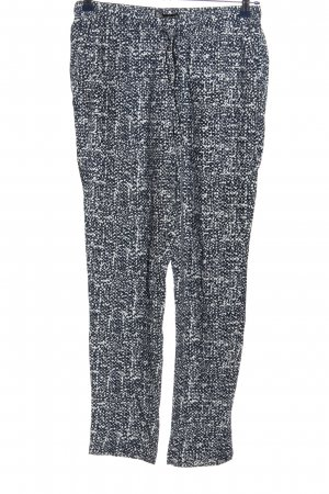 Bella Ragazza Baggy Pants blue-white allover print casual look
