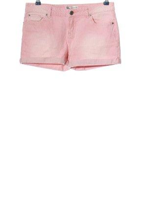 Bella Ragazza Short en jean rose-blanc style décontracté