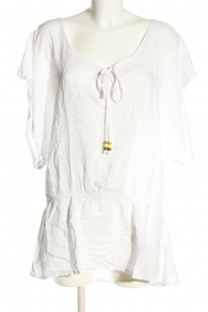 Bella Ragazza Tunique-blouse blanc style décontracté