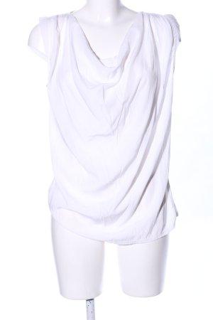 Bella Ragazza Top collo ad anello bianco stile casual