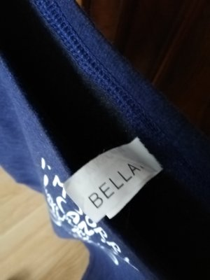 BELLA Pull ras du cou bleu
