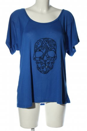 BELLA T-Shirt blue-black themed print casual look