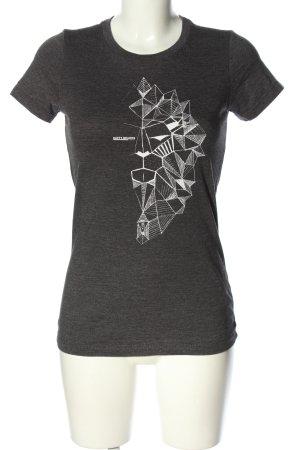 BELLA T-Shirt hellgrau-weiß meliert Casual-Look