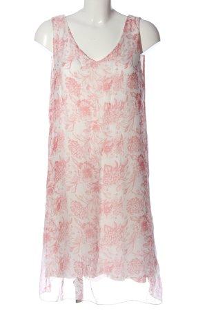 Bellambia Robe à bretelles blanc-rose imprimé allover style décontracté