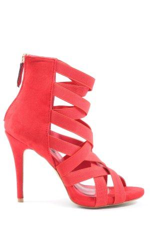 Bellamica Hoge hakken sandalen rood casual uitstraling