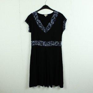 bellanatur Shortsleeve Dress black-steel blue viscose