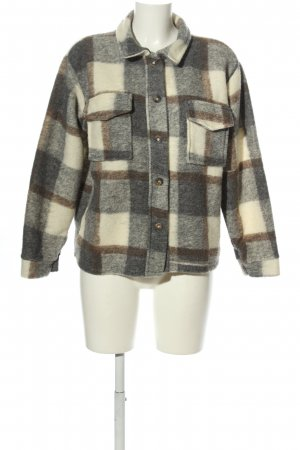 BELLAVIE Flannel Shirt black-cream check pattern casual look