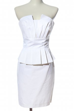 Belle by oasis Peplum Dress white elegant