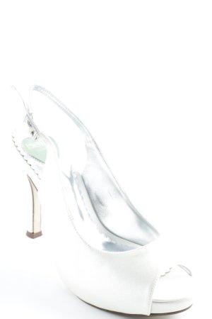 Belle Hoge hakken zilver-licht beige elegant