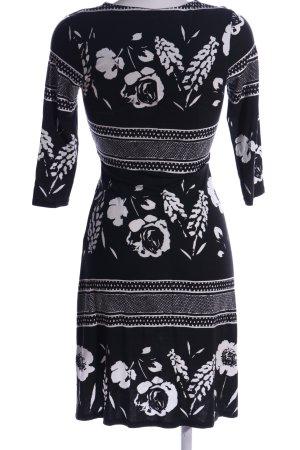 Belle Jerseyjurk zwart-wit bloemenprint casual uitstraling