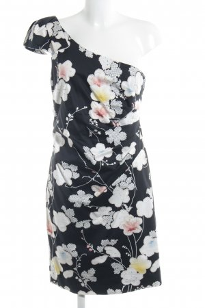 Belle One-Shoulder-Kleid Blumenmuster Party-Look