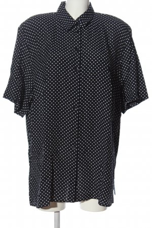 Belle Surprise Short Sleeved Blouse black-white spot pattern casual look