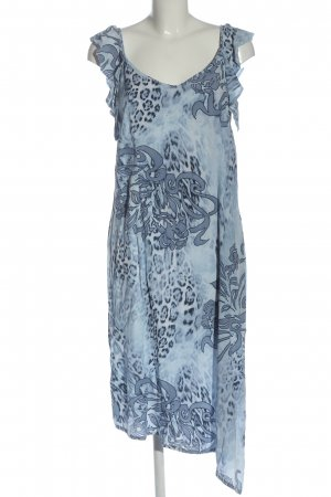 Belle Surprise Midi Dress blue-white abstract pattern casual look