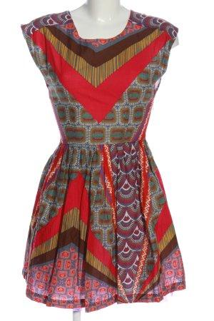 Belle Mini-jurk volledige print casual uitstraling