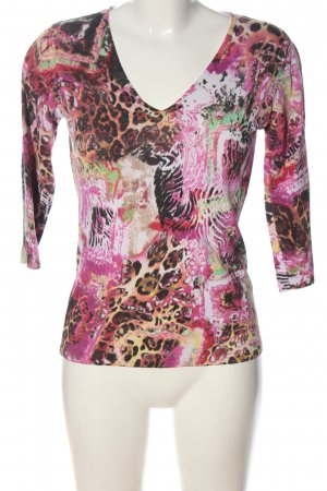 Belle Vere V-Neck Shirt abstract pattern casual look