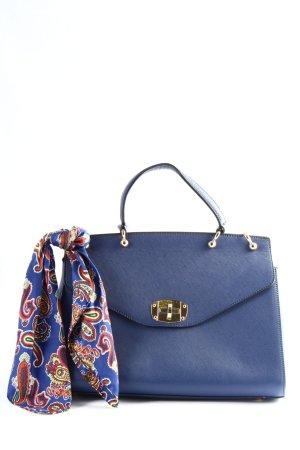 Belle Women Torebka podręczna niebieski-złoto W stylu casual