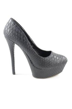 Belle Women High Heels schwarz Animalmuster Casual-Look